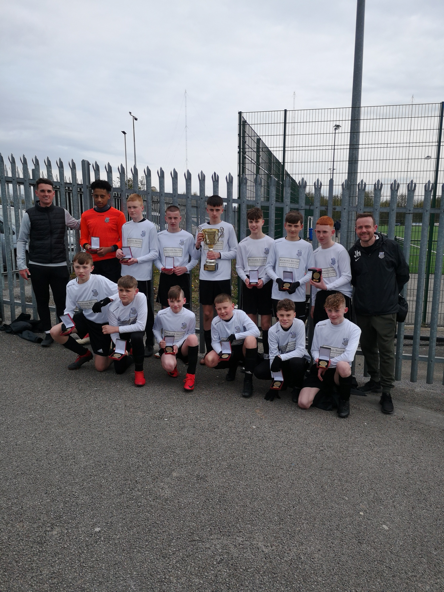 Trophy for Medlock Rangers U14s, sponsored by Richard Silver Solicitors.